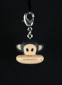 Paul Frank Zipper Pull: Zipper Mouth Monkey Head