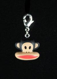 Paul Frank Zipper Pull: Classic Brown Monkey Head
