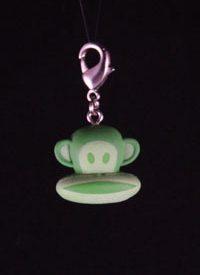Paul Frank Zipper Pull: Green Monkey Head (Glow)