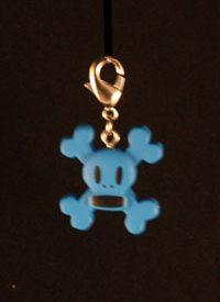 Paul Frank Zipper Pull: Skull & Crossbones (Blue)