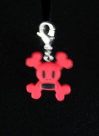 Paul Frank Zipper Pulls, Skull & Crossbones (Red)