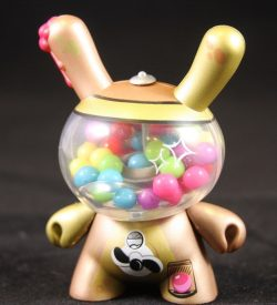 Dunny 2011, Gold Bubblegum Machine by Mr. Frames