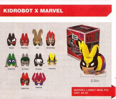 Kidrobot, Marvel Labbit Series 1, Blind Box