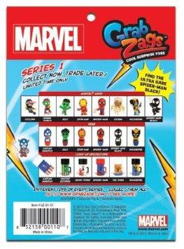 Grab Zags, Marvel, Series 1, Blind Bag