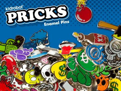 Kidrobot, Prick, Enamel Pins