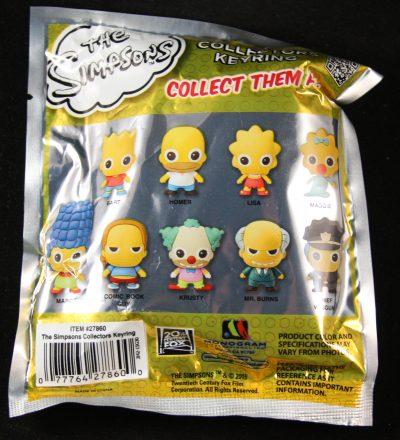 Simpsons, Series 1, Figural Foam Key Chain