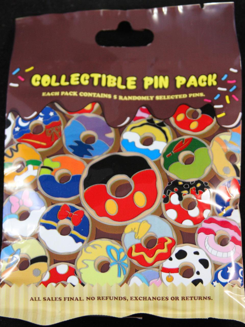 Disney Donut Design Pins 5 Pack Blind Bag