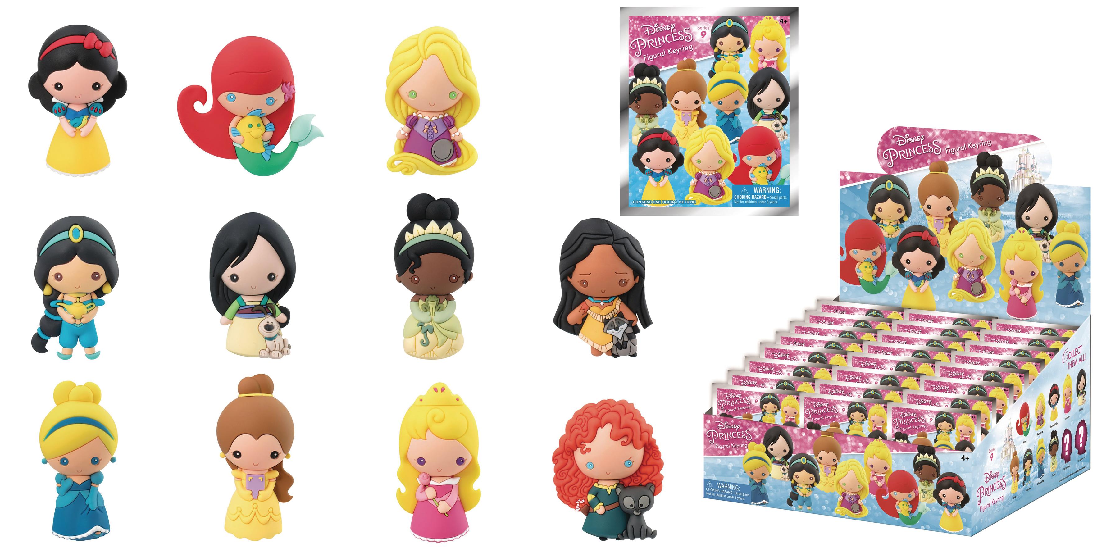 Disney Series 9 Keychain Princesses Figural Foam Blind