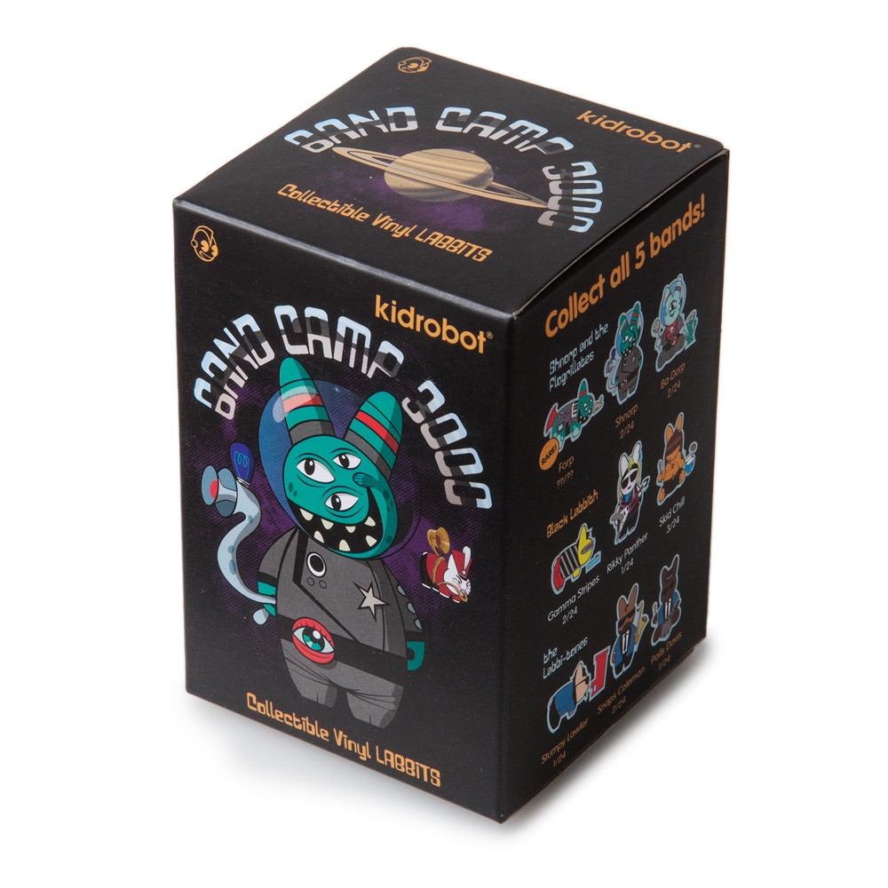 Kidrobot Labbit Band Camp 3000 Mini Series Figure Black Labbith Rikky Panther